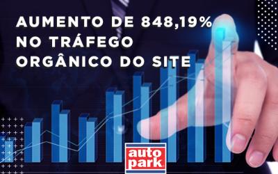 Como a Auto Park conseguiu um aumento de 848,19% no tráfego orgânico do seu site?