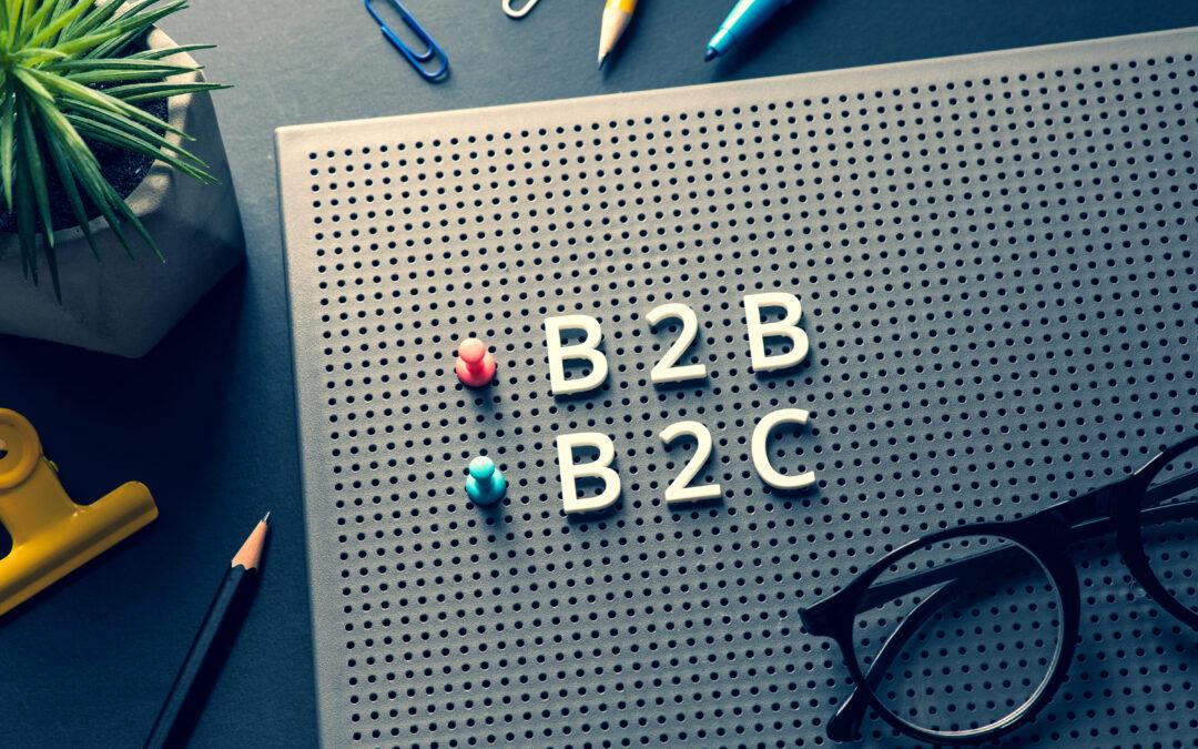A diferença entre B2B e B2C
